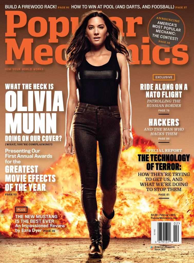 Popular Mechanics Feb '15 - Olivia Munn - Newsstand