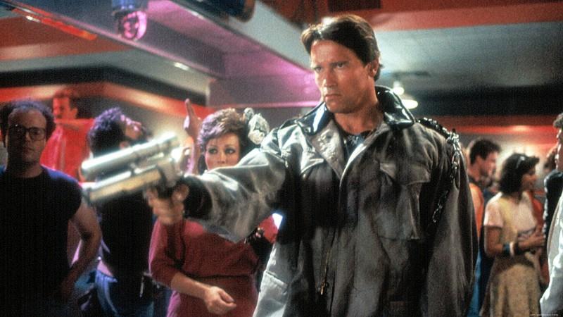 Arnold schwarzenegger nel primo Terminator (1984). ©HemdaleFilmCorporation, PacificWesternProductions, EuroFilmFunding, Cinema'84