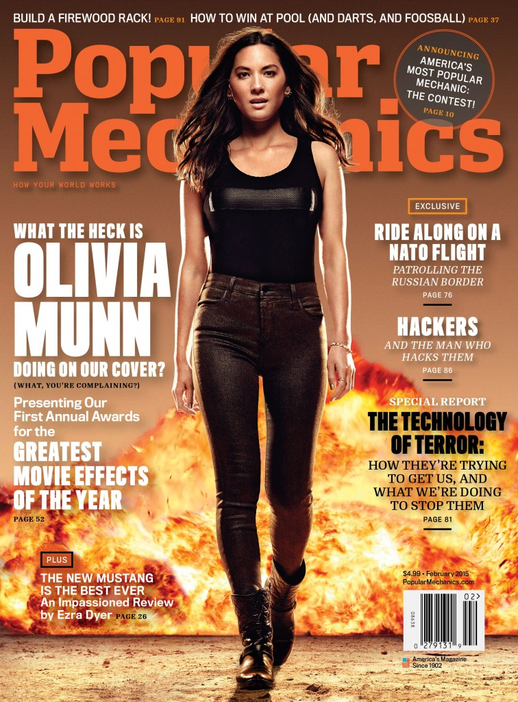 Popular Mechanics Feb '15 - Olivia Munn - Newsstand