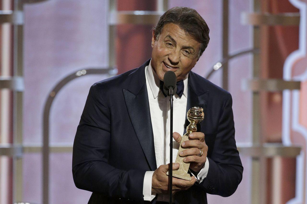 Sylvester Stallone durante il discorso di ringraziamenti. ©TheVerge.com