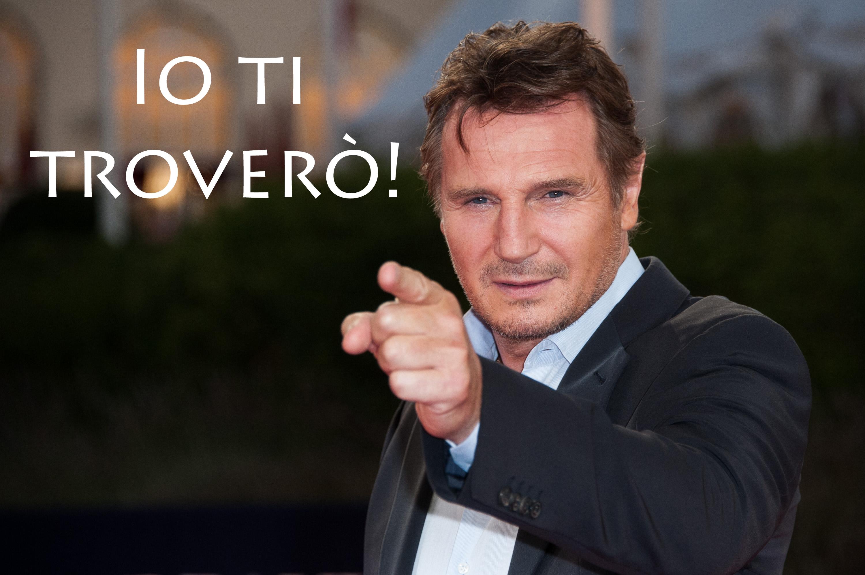 Liam Neeson che trova cose