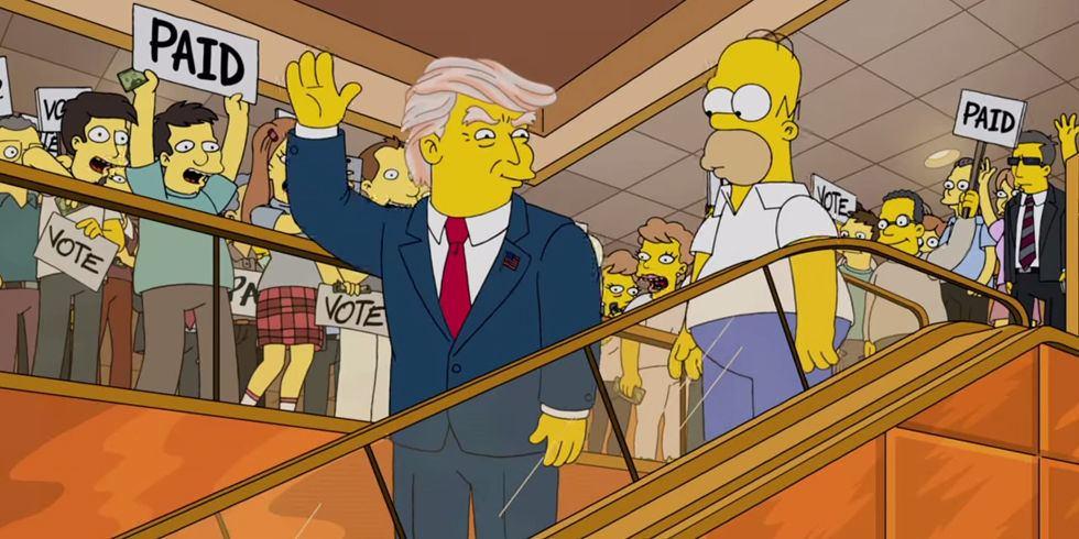 i film con Donald Trump - simpson
