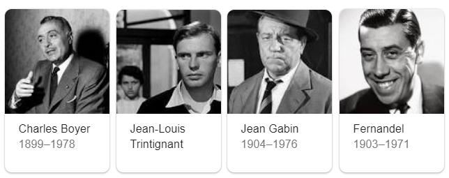 attori francesi famosi degni anni 50 60 70