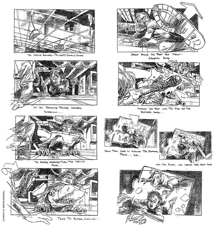 jurassic park esempi di storyboard